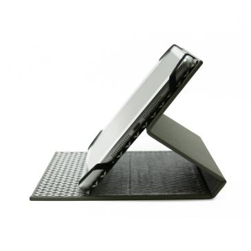 Étui d'iPad mini en toile Buckram grise et papier 100% recyclé